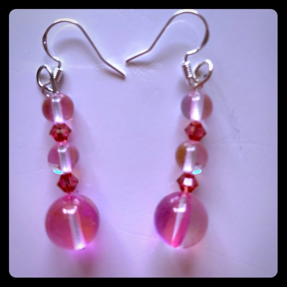 Pinkalicious Jewelry - NEW JUST ADDED Pink Moonstone Earrings P5000